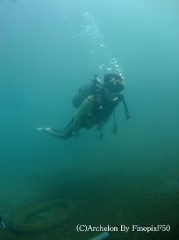 中性浮力で泳ぎます!