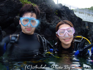 秋の八丈島 体験ダイビング